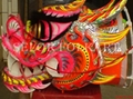 Chinese red-golden competition dragon