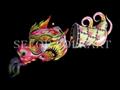 Chinese dragon dance set