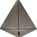 Stainless steel poles for banner and flags set