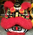 Chinese lion in red color with 100% wool
