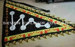 Seven stars flag for lion dance