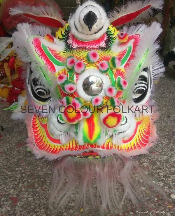 Chinese traditional white bristle lion Liu Bei