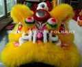 Chinese lion with orange wool