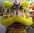 Chinese lion with yellow wool
