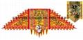 Lion dance flags set