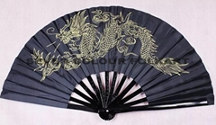 Bamboo Kung Fu Fan in different color