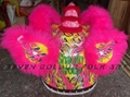 Chinese hok san lion with pink wool