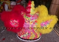 Chinese hok san lion head in double colors