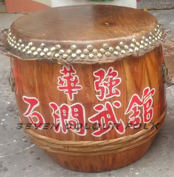 Raw wood drums for lion dance 10