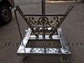 Stainless steel cart for flags set 1