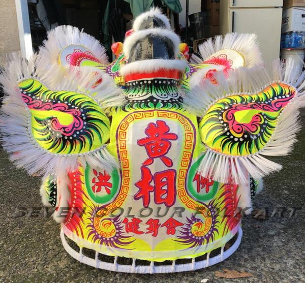 Traditional Foshan lion in white color 3