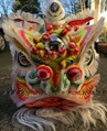 Traditional Foshan lion in white color