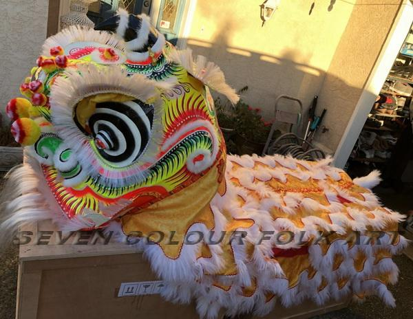 Traditional Foshan lion in white color 4