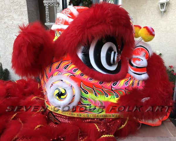 Foshan lion with red wool 2