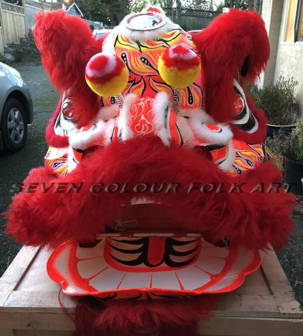 Foshan lion with red wool 1
