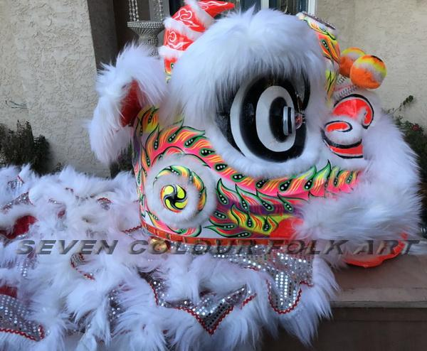 Foshan lion with white wool 2