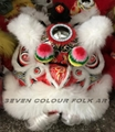 Foshan lion with wool in different colors
