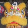 Foshan lion with gold base painting instead of laser paper