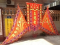 Banner and flags set for lion dance