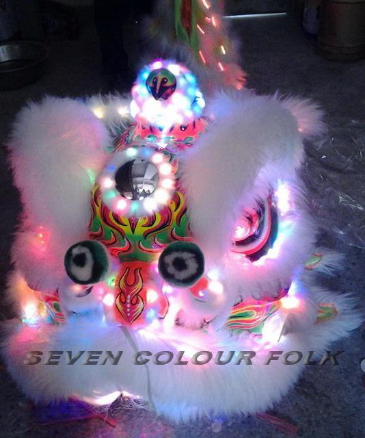 Lion head and costumes with LED lights 1