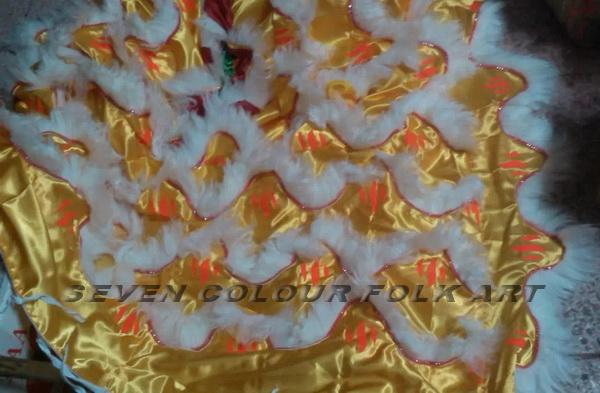 Hoksan style lion with tiger claws printing on quilt and pants 5