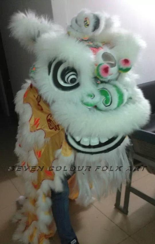 Hoksan style lion with tiger claws printing on quilt and pants 4