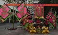 Flags set for lion dance