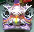 Wonderful painting on lion head
