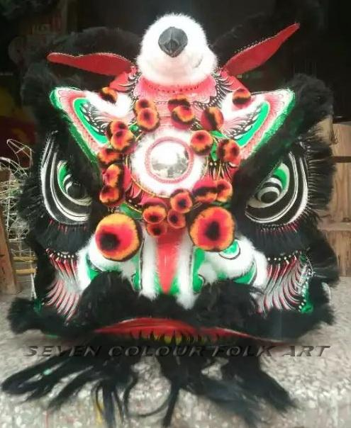 Chinese traditional lion in different colors 6