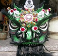 Traditional green black lion