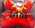 Foshan lion with red/black/orange/purple/green wool