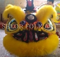Chinese Foshan lion set with yellow wool