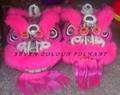 Hoksan & Futsan styles pink wool lions 1