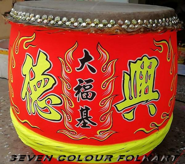 Beautiful painting drums for lion dancing 2