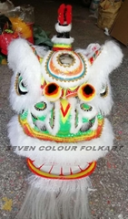 Traditional ram fur Hok San lion head