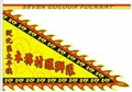Triangular flags with printing for lion dance team in different designs