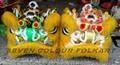 Popular ram fur lion heads in red/yellow