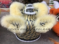 Black-gold and cream colors wool lion