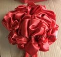 Red bow flowers for lion head, dragon