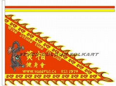 Printed flags, banners, scrolls for lion dance team