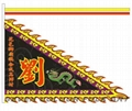 Beautiful flags for lion dance team