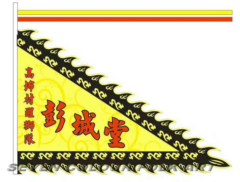 Beautiful flags for lion dance team 2