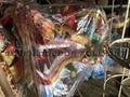 Handmade Fabric Dragon Head 2