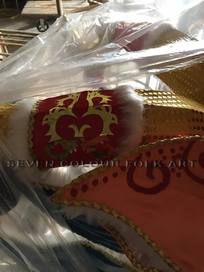 Handmade Fabric Dragon Head 5