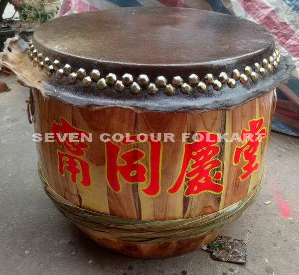 Raw wood drums for lion dance 9
