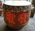 Raw wood drum for lion dance