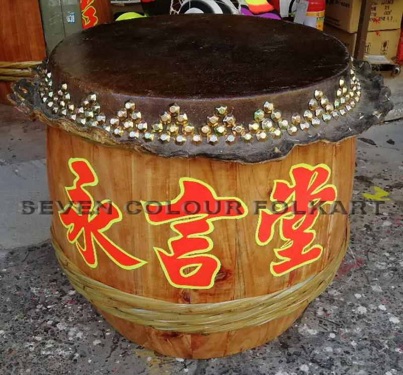 Raw wood drums for lion dance 5
