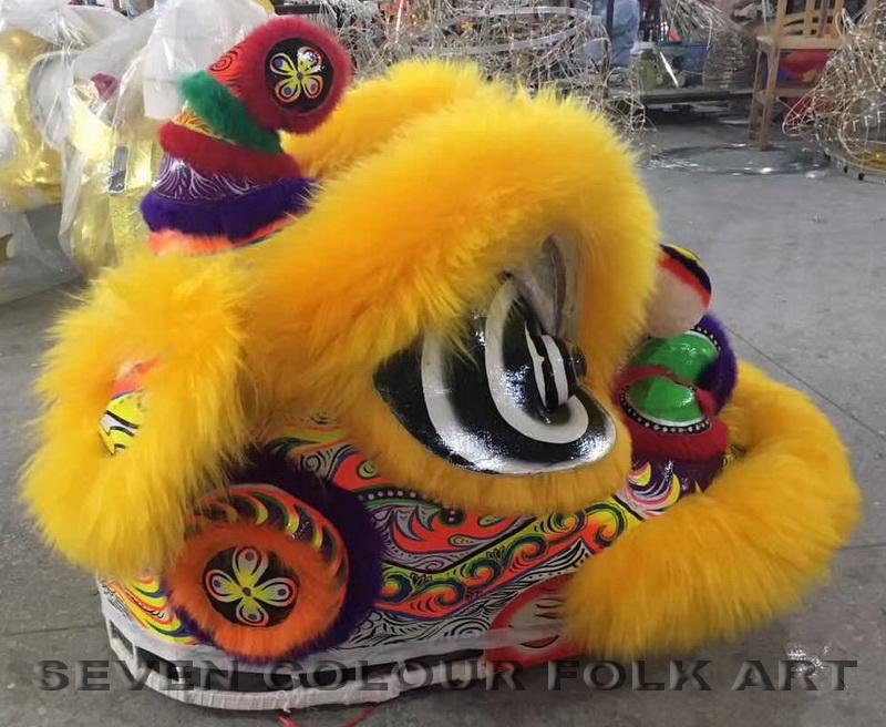 Hoksan lions with wool in yellow color 3