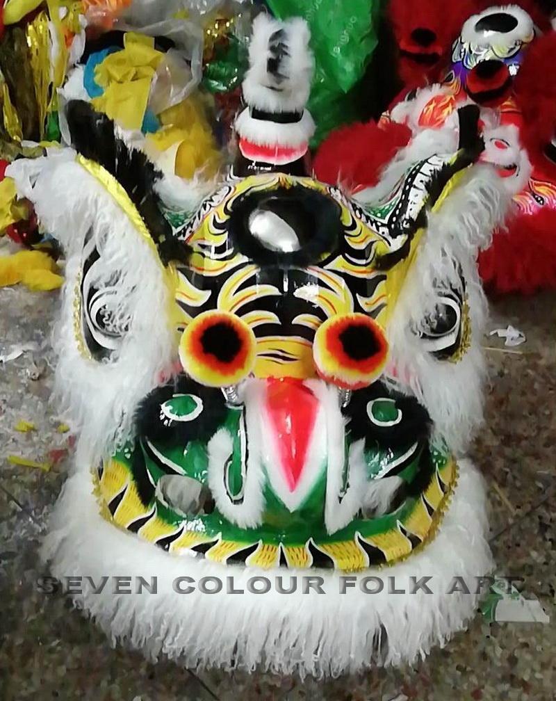 Traditional Hoksan lion head with ram fur 1