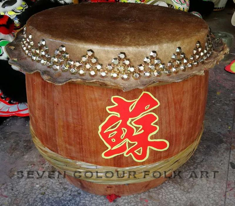 Raw wood drums for lion dance 4